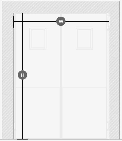 Insulated-swing-door-drawing