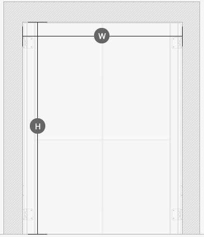 polycarbonate-swing-door-drawings